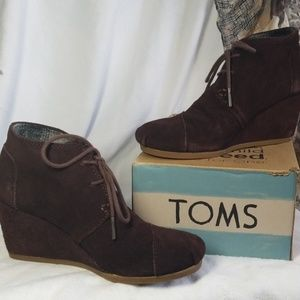 TOMS Wedge Bootie